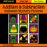 BUNDLED - Halloween Addition and Subtraction Mystery Pictures