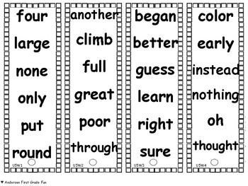 BUNDLED Start Smart- Unit 6 High Frequency Words Fluency Fans- Wonders