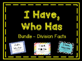 {BUNDLED} I Have Who Has Division Facts games
