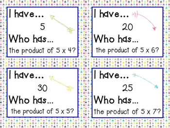 {BUNDLED} I Have Who Has Multiplication Facts games