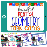 BUNDLED Interactive Task Cards Geomtery Google Drive Classroom