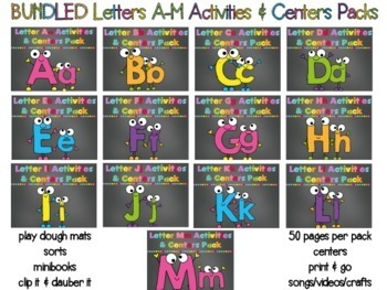 BUNDLED Letters N-Z Mega Packs