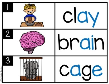 BUNDLED Long Vowels Literacy Centers