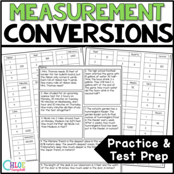 BUNDLED! Measurement Conversions Metric and Customary - Whole Unit!