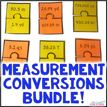 BUNDLED! Measurement Conversions Metric and Customary - Wh