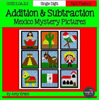 bundled mexico addition and subtraction mystery pictures cinco rh teacherspayteachers com