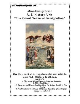 BUNDLED Mini- U.S. History Immigration Unit