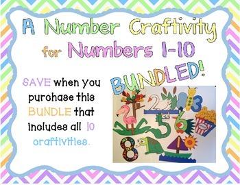 BUNDLED Number Craftivities 1-10
