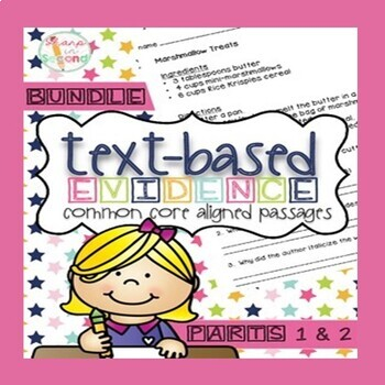 BUNDLED PARTS 1 & 2 Finding Text-Based Evidence in Reading Passages {CC Aligned)