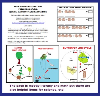 BUNDLED PRE-K MATH & LITERACY FUN PACK activities, worksheets, insta-printables