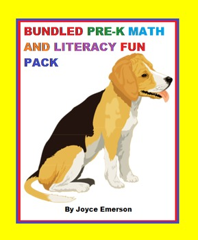 BUNDLED PRE-K MATH & LITERACY FUN PACK activities, workshe