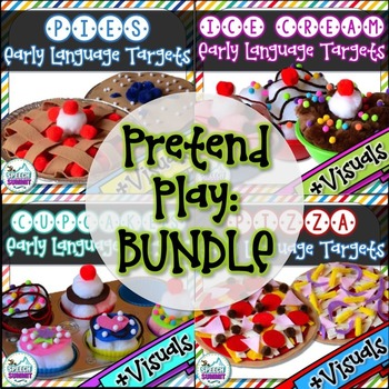 BUNDLED Pretend Play {Cooking}: Early Language Targets