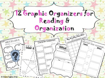 Reading and Writing Posters, Lit. Circle Booklet and Graphic Organizers BUNDLE