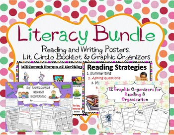 Reading and Writing Posters, Lit. Circle Booklet and Graph