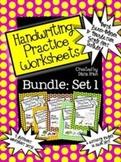 BUNDLED SET 1 - Handwriting Practice Worksheets