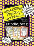 BUNDLED SET 2 - Handwriting Practice Worksheets