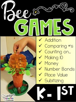 BUNDLED SET - Bee Games Math and Literacy Centers