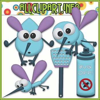 BUNDLED SET - Bug Off Clip Art & Digital Stamp Bundle
