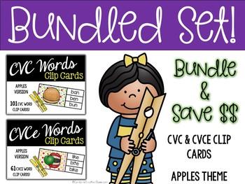 BUNDLED SET - CVC & CVCE - Apples Theme