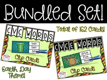 BUNDLED SET - CVC & CVE Earth Day Clip Cards