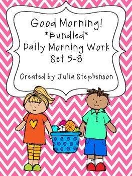 **BUNDLED SET** Daily Morning Work- Sets 5-8