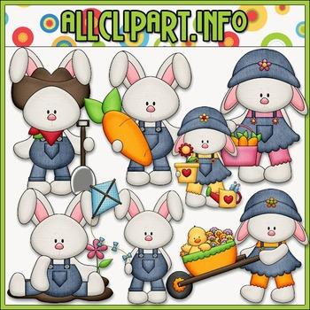 BUNDLED SET - Everyday Bunnies Clip Art & Digital Stamp Bundle