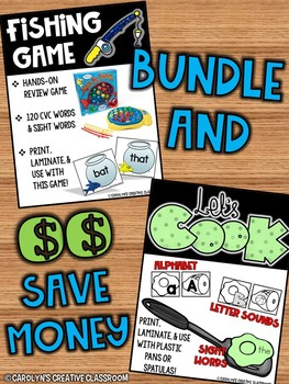 BUNDLED SET - Fishing CVC Game and Eggs and Ham Activities