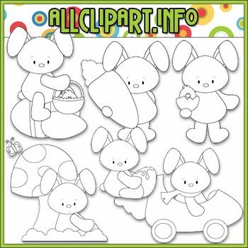 BUNDLED SET - Funny Bunny Clip Art & Digital Stamp Bundle