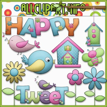 BUNDLED SET - Happy Day Clip Art & Digital Stamp Bundle