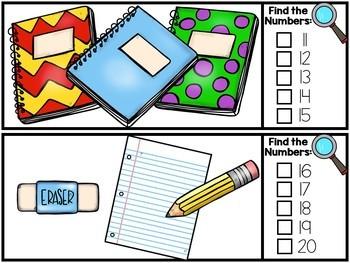 BUNDLED SET - I Spy Alphabet & Numbers - Back to School Set