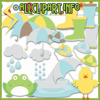 BUNDLED SET - Rainy Days Clip Art & Digital Stamp Bundle