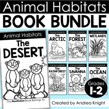 BUNDLED SET of Animal Habitat Flap Book Projects {Grades 1-3}