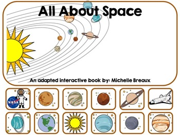 BUNDLED Science & Space 4 Adapted Interactive Books {Autism, Special Education}