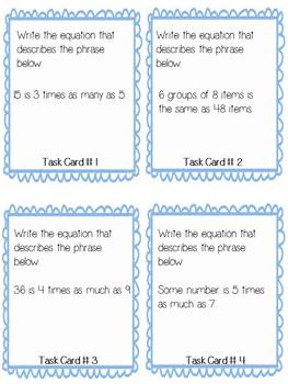 "BUNDLED ""Scoot"" Task Cards for Math -Common Core Aligned"