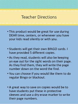 BUNDLED! Second Grade Sight Words Bingo
