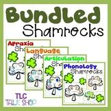 BUNDLED Shamrocks: Speech and Language Shamrock Crafts