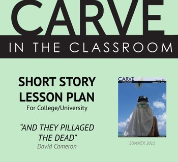 BUNDLED Short Story Lesson Plans for College/University - Carve in the Classroom