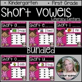 BUNDLED Short Vowels Literacy Centers