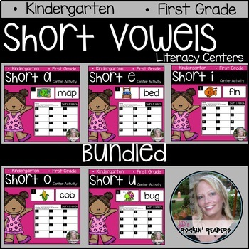 BUNDLED Short Vowels Literacy Centers
