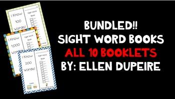 BUNDLED!! Sight Word Booklets!