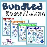 BUNDLED Snowflakes: Speech & Language Snowflake Crafts