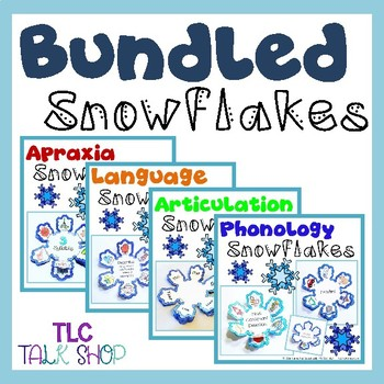 BUNDLED Snowflakes: Speech & Language Snowflake Crafts by TLC Talk Shop