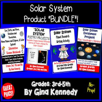 "BUNDLE ""Solar System"" Interactive Notebook, Poetry, Projec"