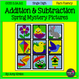 BUNDLED - Spring Addition and Subtraction Mystery Pictures