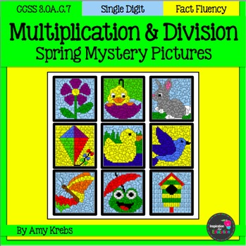 BUNDLED - Spring Multiplication and Division Mystery Pictures