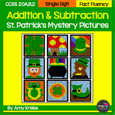 BUNDLED - St. Patrick's Day Addition and Subtraction Mystery Pictures