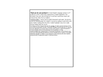 BUNDLED Storytown Lessons 11-15 ORF Fluency and Spelling Words Practice