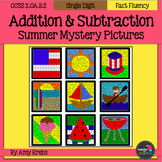 BUNDLED - Summer Addition and Subtraction Mystery Pictures