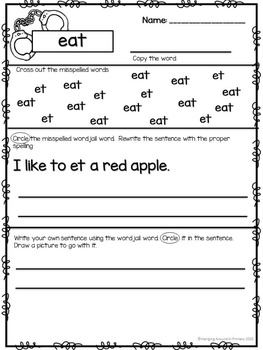 BUNDLE Word Wall and Worksheets for Rule Breaker Words