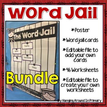 BUNDLE Word Wall and Worksheets for Rule Breaker Words